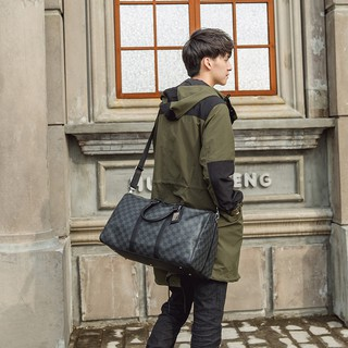 Túi đeo chéo trống da pu nam nữ xách du lịch size lớn tập gym đựng giày quần áo thời trang chống nước