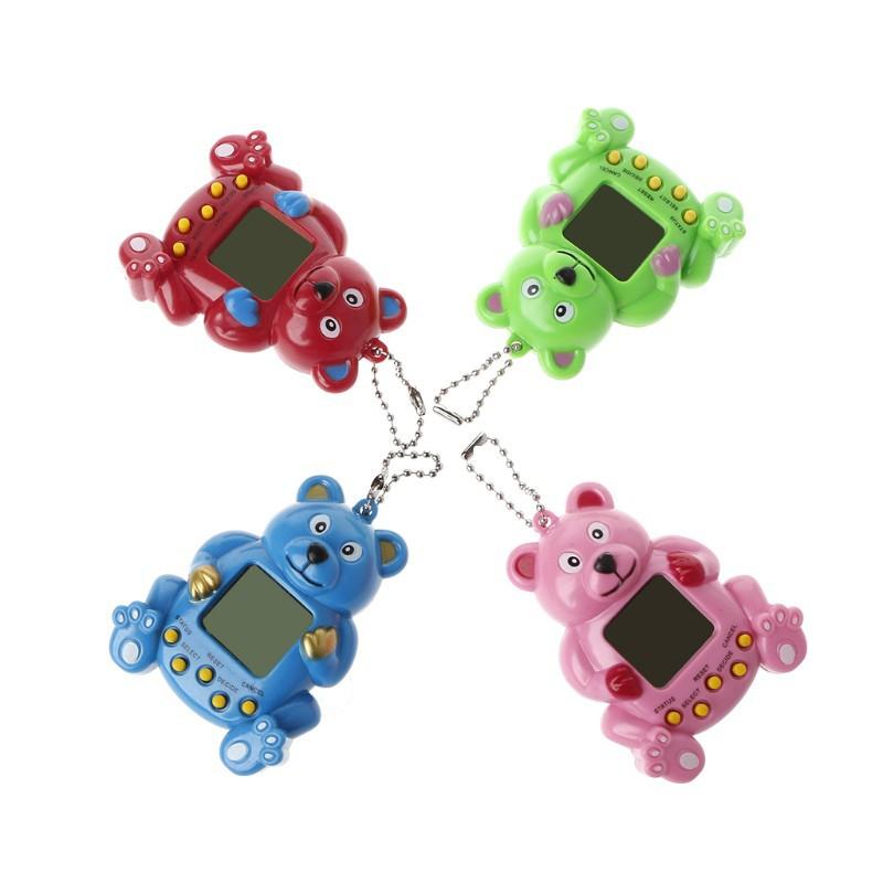 Máy chơi nuôi thú ảo với móc khóa hình gấu botdaquang85