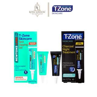 Combo Gel Giảm Mụn T-Zone Zapping Gel 8ml Và Gel GiảmThâm T-Zone Charcoal Night Treatment 8ml thumbnail