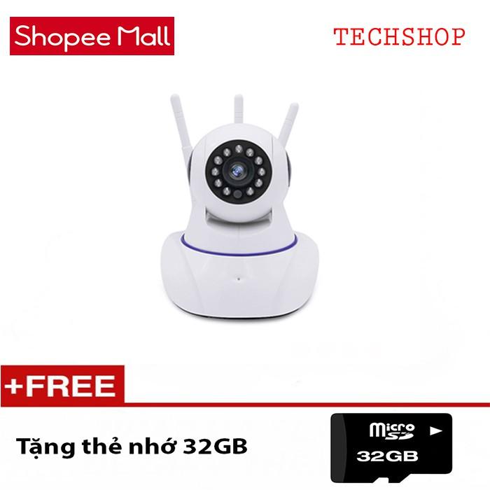 Camera siêu wifi 3 Anten xoay 360 Yoosee Pro 8800HD TẶNG THẺ 32GB