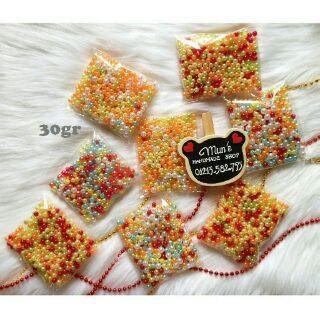 Hạt ngọc trai nhựa – Hạt cườm xỏ hạt, làm nhụy hoa, trang trí handmade