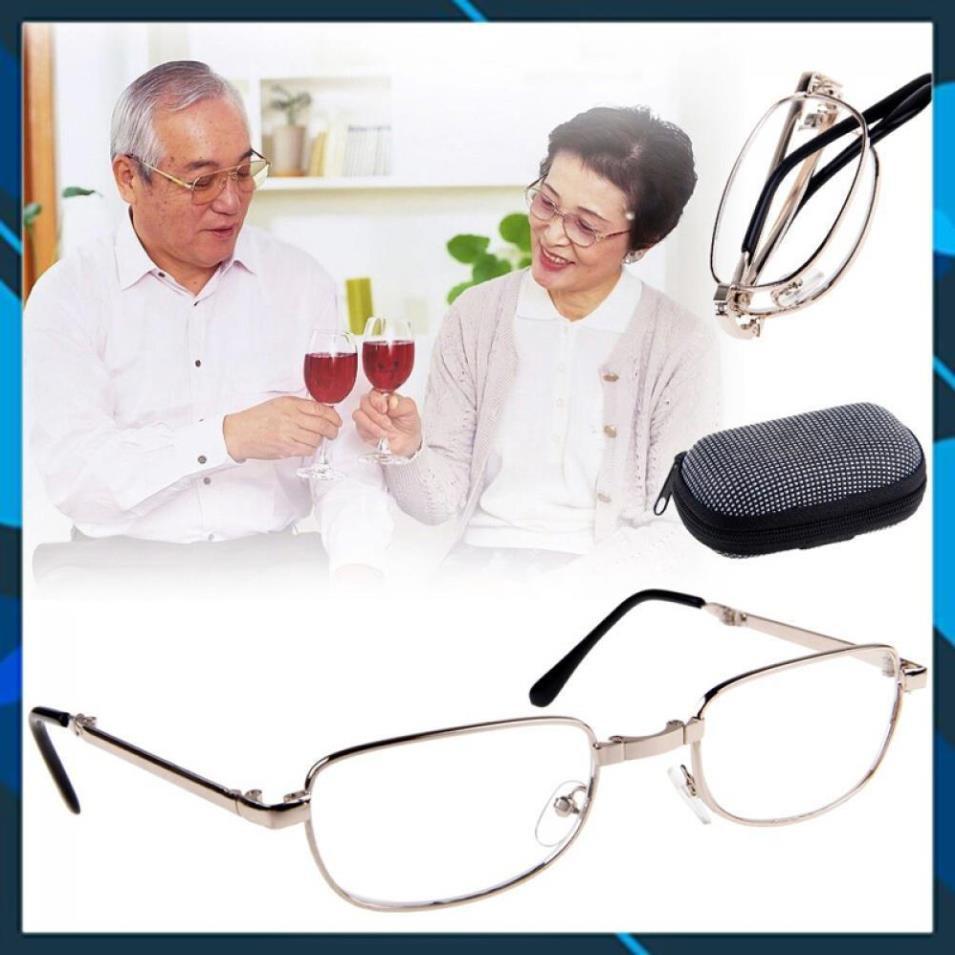 Kính lão Đọc Sách mặt kính gọng Kim Loại Có Thể Gấp Gọn Tiện Dụng