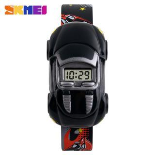 Đồng hồ trẻ em bé trai Skmei 1241 hình ô tô dây silicon