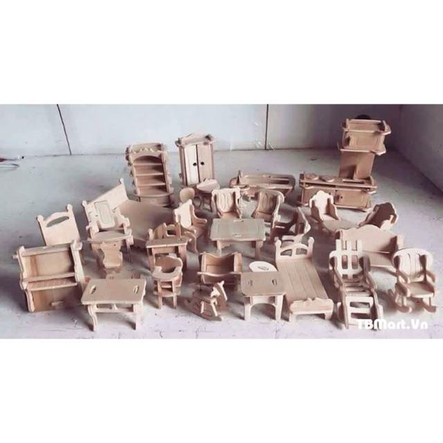 Bộ đồ chơi ghép gỗ