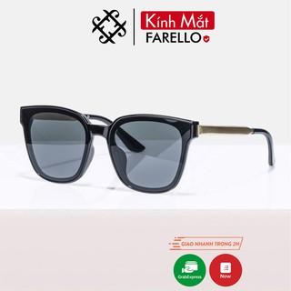 Kính mát nam nữ FARELLO chống UV400, thiết kế mắt vuông dễ đeo, màu sắc thời trang - Y6035