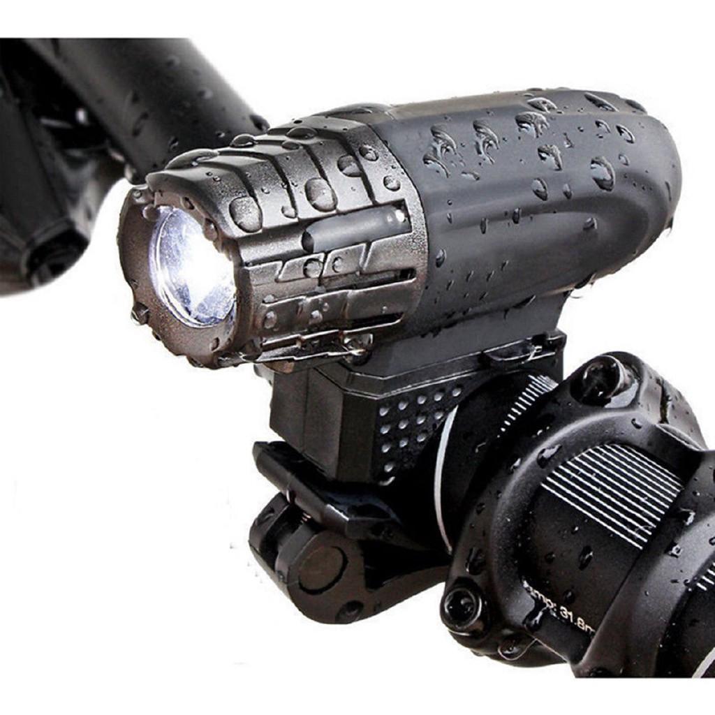 Đèn pha LED sạc USB cho xe đạp