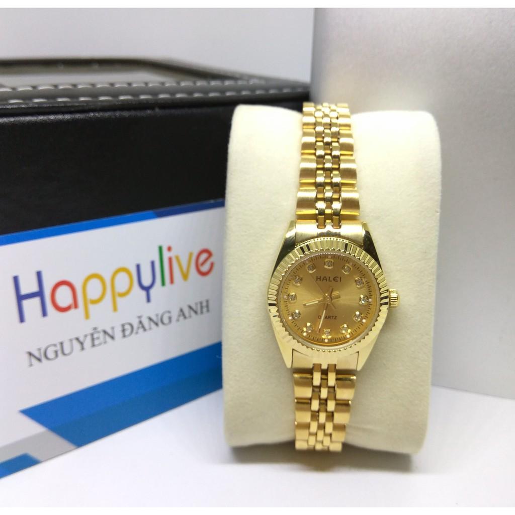 Đồng hồ nữ Halei HL168 màu vàng chống nước