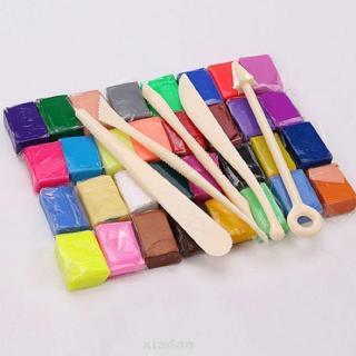 32 Blocks Polymer Clay Set Colorful DIY Soft Craft Oven Bake Modelling Kit