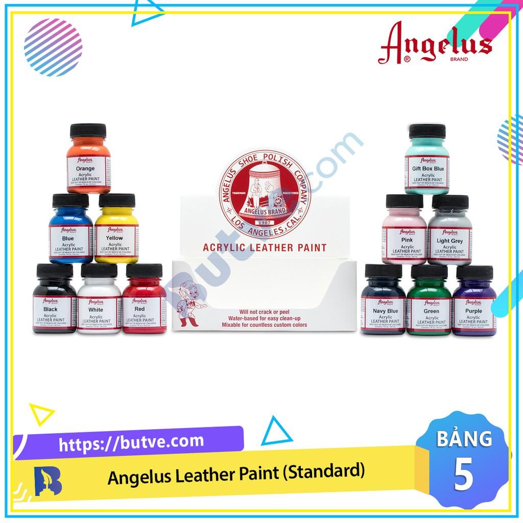 Bảng màu 5 - Màu acrylic vẽ lên da, vải Angelus Leather Paint (Standard) – 29.5ml (1Oz)