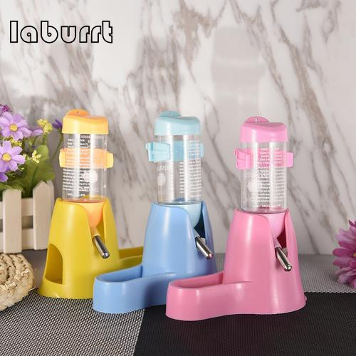 80 ml 3 in 1 Hamster Water Bottle Food Container for Drinking Feeding Rest