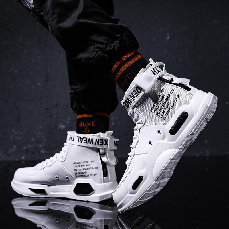 Giày Nam, Giày Sneaker Thể Thao Nam Cổ Cao Phong Cách Hàn Quốc G28