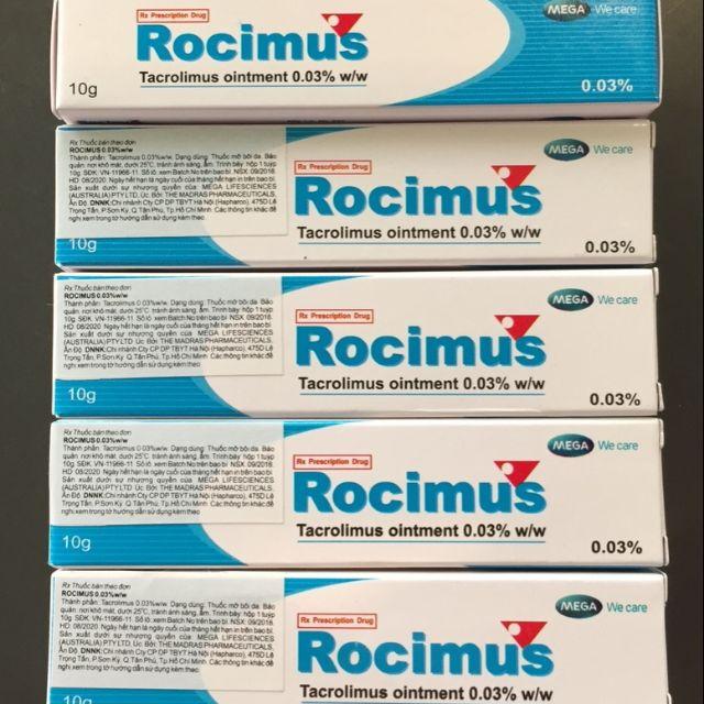 Rocimus 0,03 Cream trị Eczema & Viêm da dị ứng.