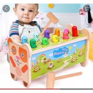 Bộ đồ chơi đập chuột bằng gỗ