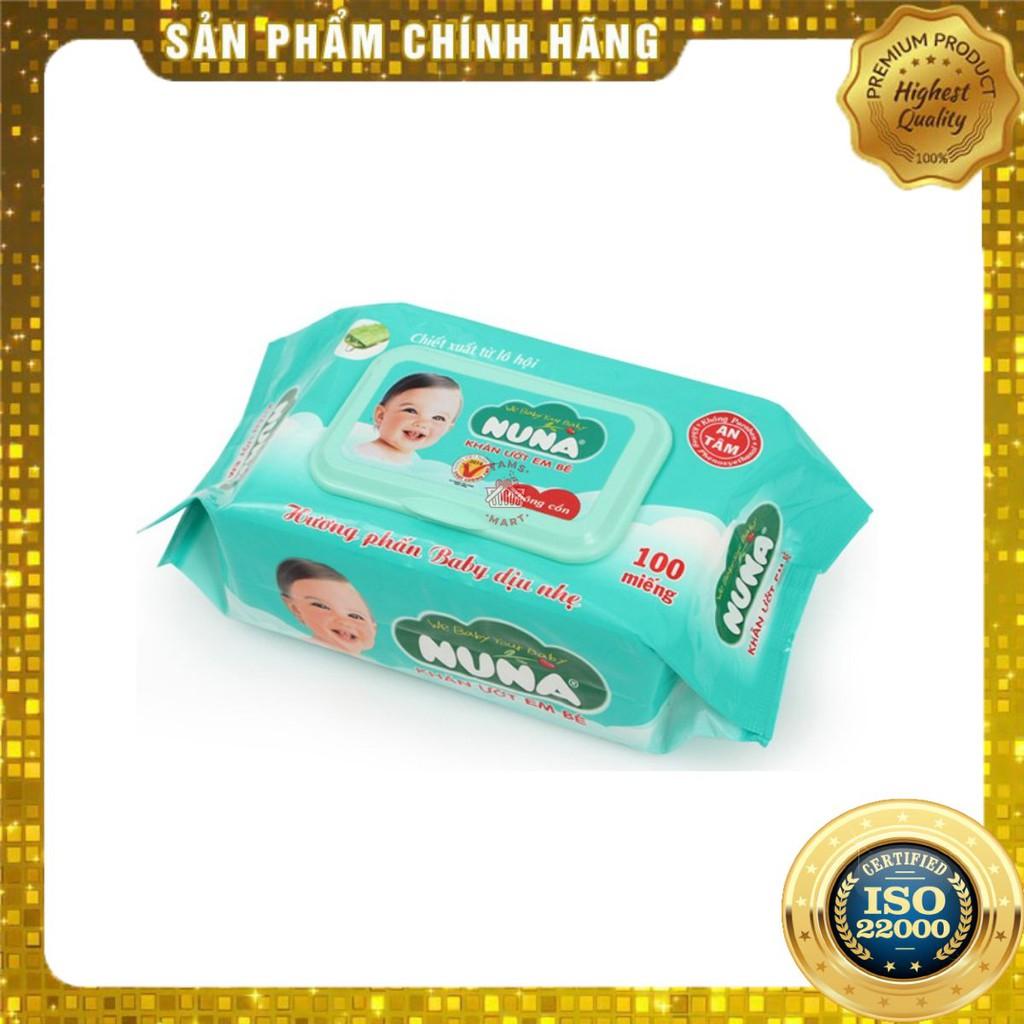[ Yams Mart ] Khăn Giấy Ướt Baby Nuna (100 Miếng/Gói)-
