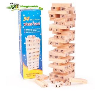Bộ trò chơi rút gỗ 54 thanh- luyện khéo tay cho bé Vbán xong