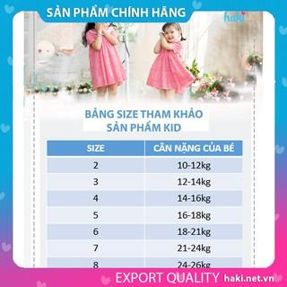Đầm bé gái_Váy bé gái hoa bèo tay, cổ Peter Pan sắc màu -HAKI HK498, váy thiết kế cho bé, đầm trẻ em, đầm thô hàn quốc