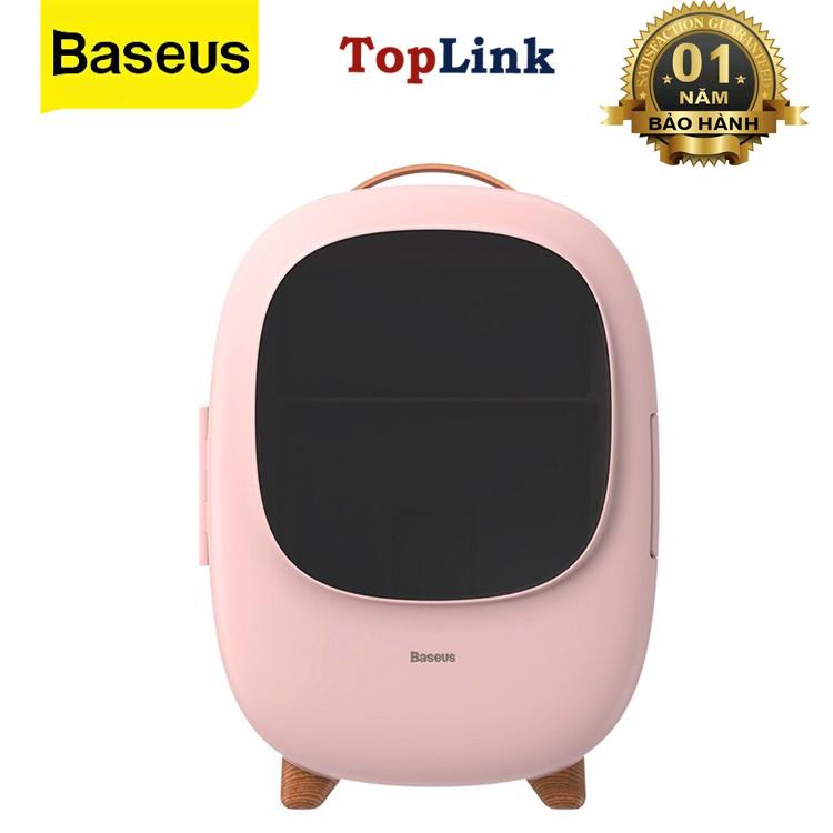 Tủ Lạnh Mini Baseus 8L - Tủ Lạnh Mini Ô Tô Nguồn 12V - 220V Phù Hợp Đựng Mỹ Phẩm - TopLink