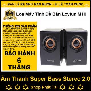 Loa Máy Tính Stereo 2.0 LF M10 - Loa Máy Tính Để Bàn Giá Rẻ - Hàng Chính Hãng Bảo Hành 6 Tháng