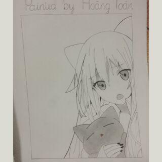 Tranh vẽ neko-chan nè mọi người