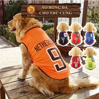Áo Cho Chó Mèo - Áo Bóng Đá Các Đội Tuyển Cho Chó , Có Size Cho Chó Lớn thumbnail