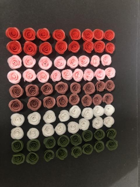 Hoa Hồng làm nail loại đẹp ( 1bông = 6k) Hoa bột