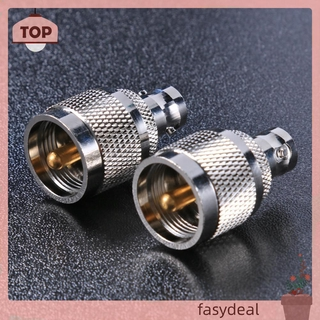 (☼fasydeal)BNC Female to UHF Male Connector PL259 RF Coaxial Coax UHF to BNC Adapter