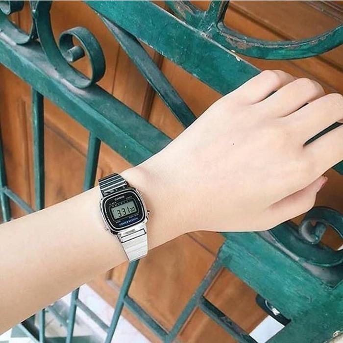 Đồng hồ nữ dây kim loại chính hãng Casio LA670WA-1DF