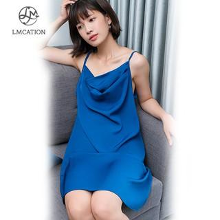 Đầm Mặc Nhà Cổ Đổ Nữ LMcation Camila - Màu Xanh thumbnail