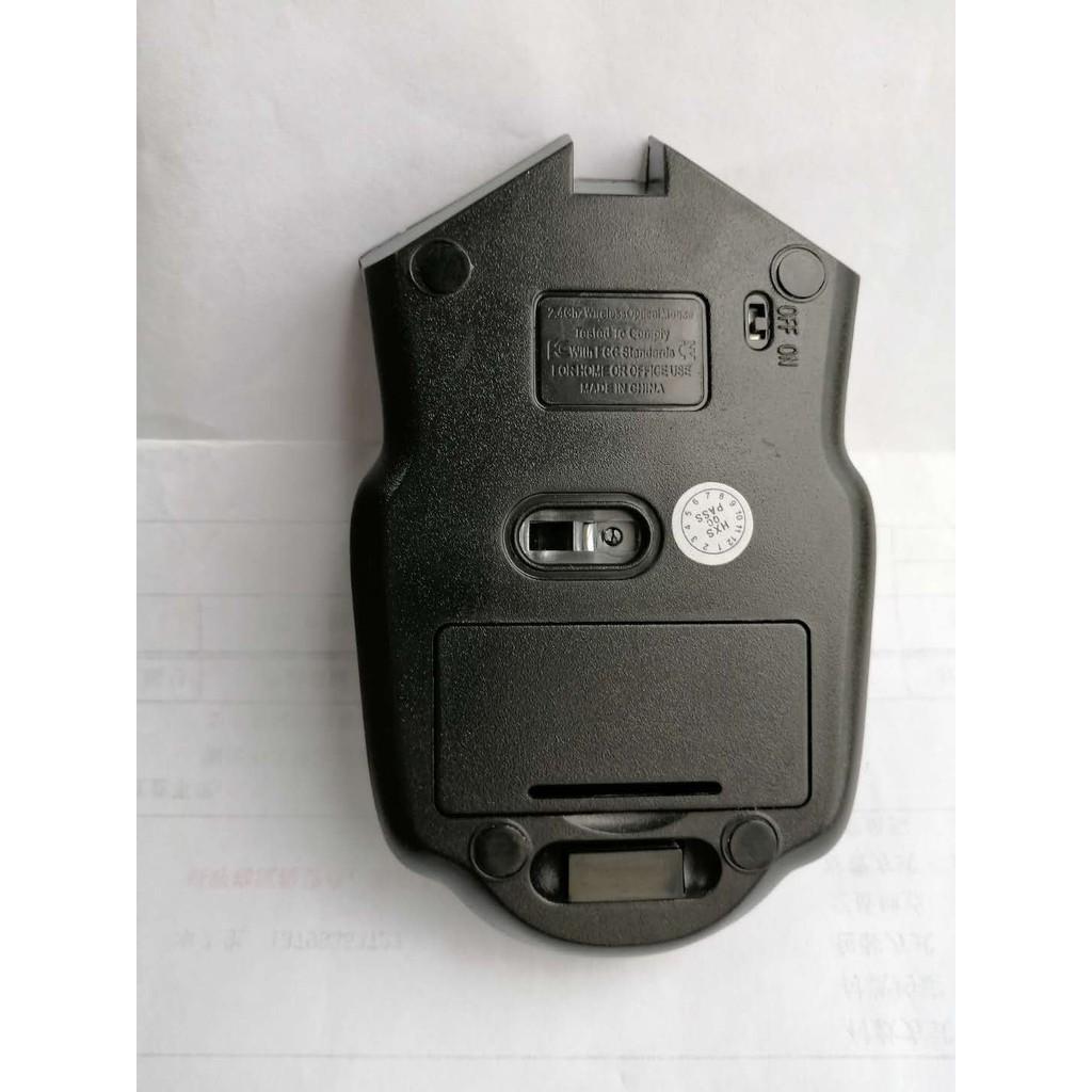 Chuột quang không dây 2.4GHz và đầu nhận USB dùng để chơi game