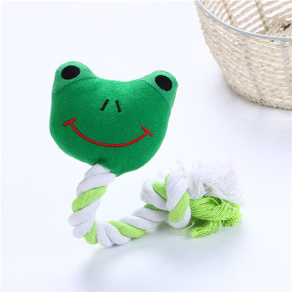 Dây đồ chơi nhai gặm hình ếch/gấu trúc dễ thương cho chó