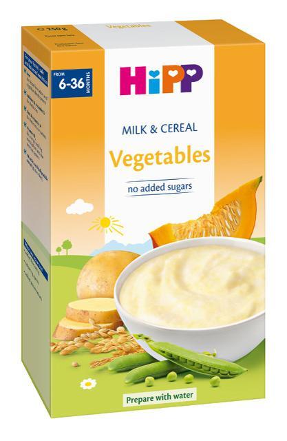 Bột Dinh dưỡng sữa ngũ cốc & rau củ HiPP 250g