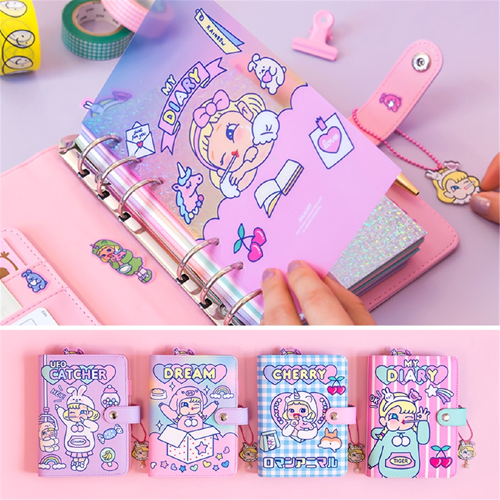 Kawaii DIY Binder A6 Spiral Diary Planner Organizer Journal Note book Diary Gift