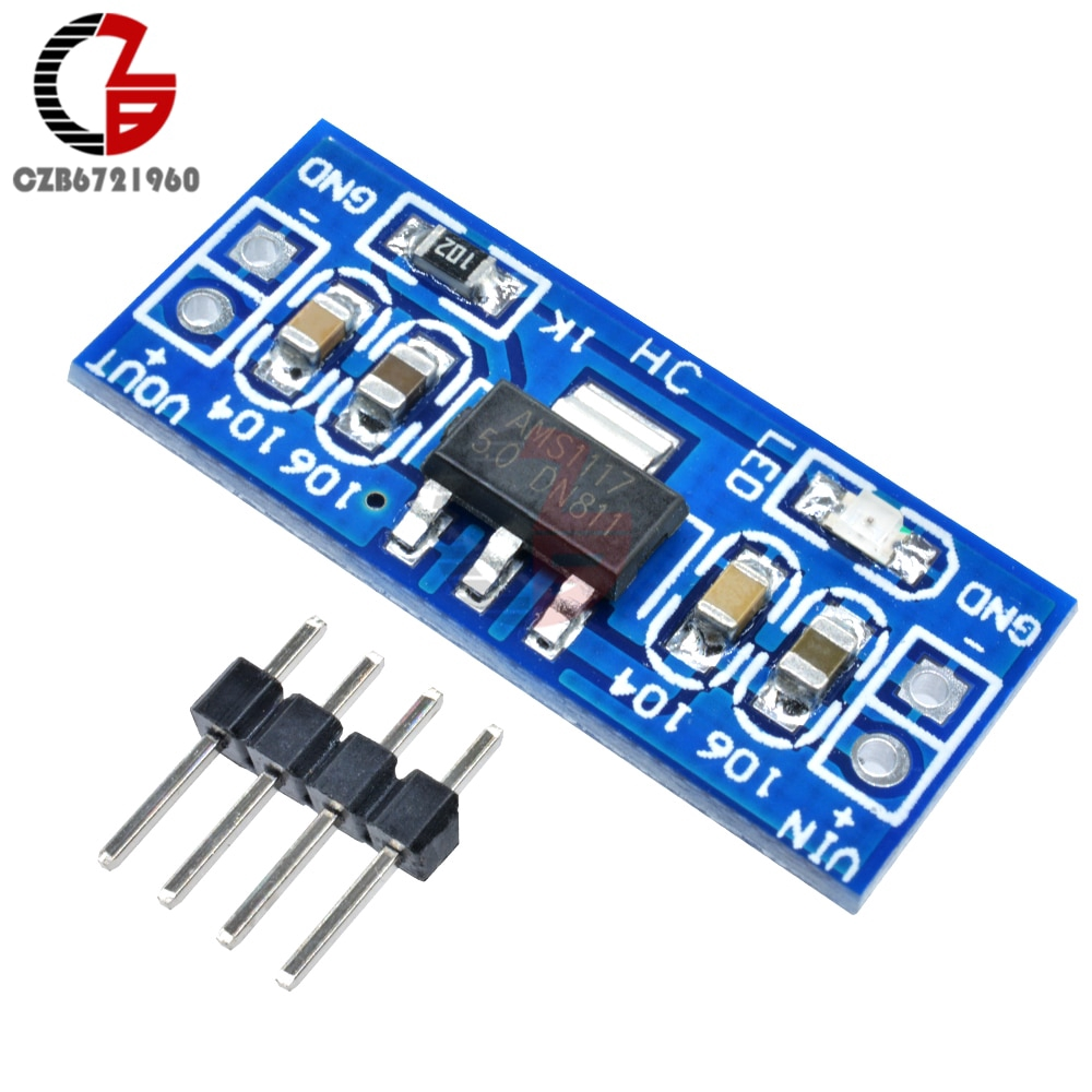 LM1117 AMS1117 DC-DC 6V-12V to 5V Step Down Power Converter Supply Module Voltage Converter Supply for Arduino Raspberry Pi