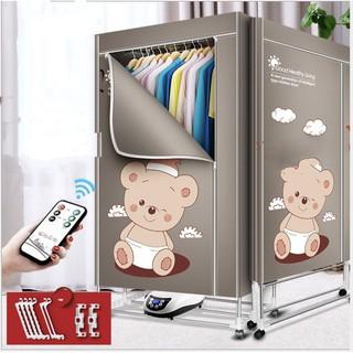 Máy sấy khô quần áo xếp gọn được 1200w công nghệ chống cháy Nhật Bản (Happy Bear) – Home and Garden