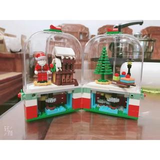 Hàng mới Lego Merry Christmas gift Santa Claus lắp ráp hộp quà ông già noel Sembo 601090