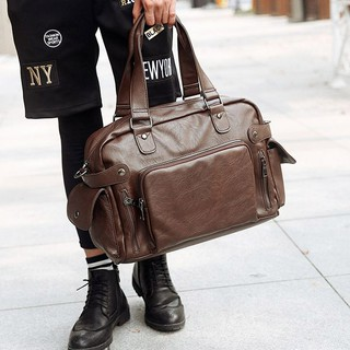 Túi xách du lịch nam cao cấp Etonweag cặp da nam sang trọng chất liệu da Pu bến đẹp