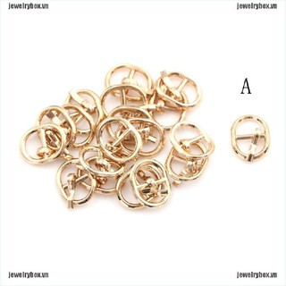 JX 5.5mm Mini Metal Buckle DIY Doll Dress Patchwork Handmade Craft Sewing Accessory[VN]