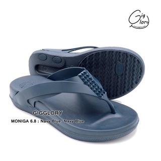 Dép kẹp Nữ Thái Lan Monobo 2020 cao 3cm Đen Nhựa êm chân, quai gài dưới đế siêu bền chống trơn trượt - Miusokiu thumbnail