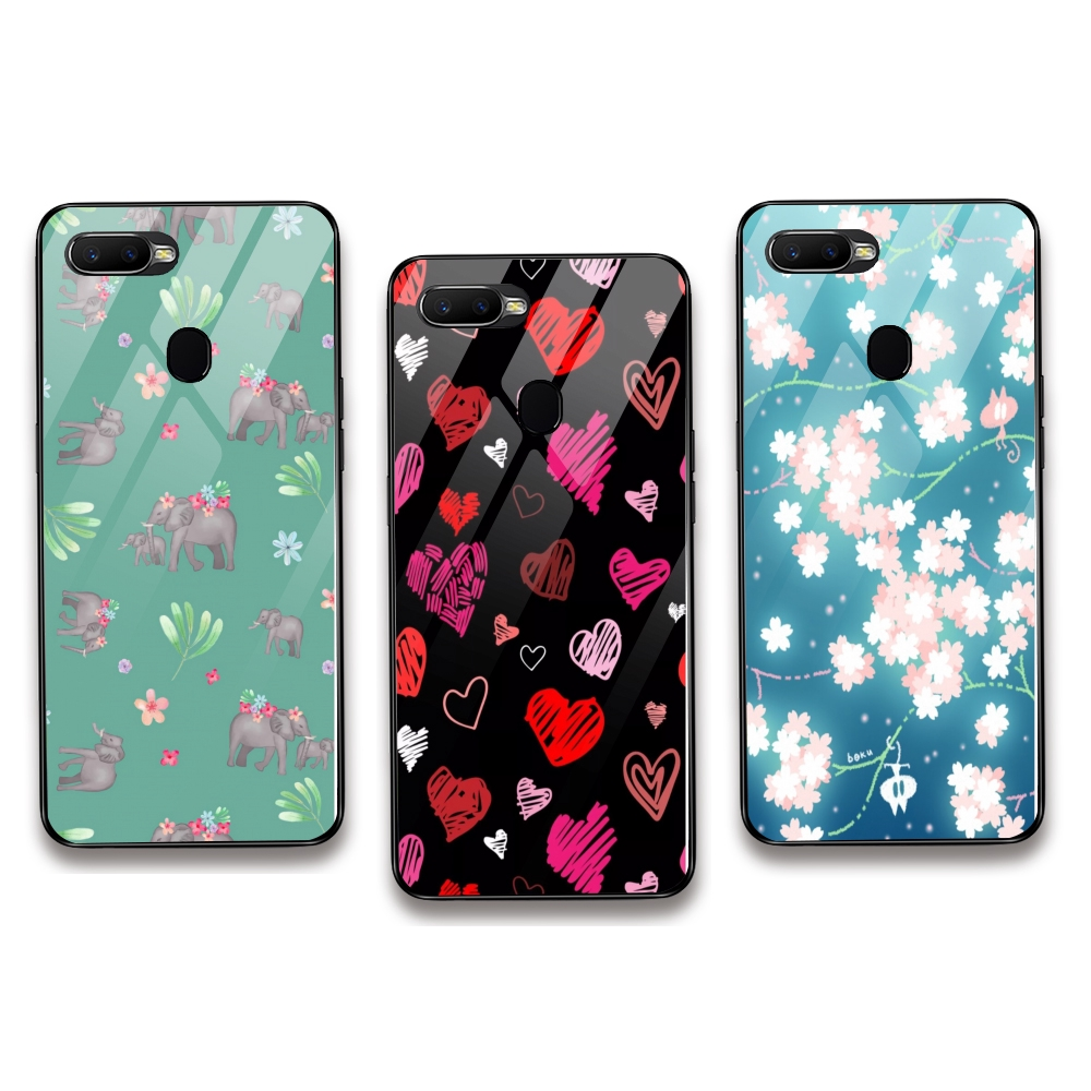 Pink Ear Fly Icon Hard Shell For OPPO F5 F7 F9 F11Pro A3 A3s/A5 A7