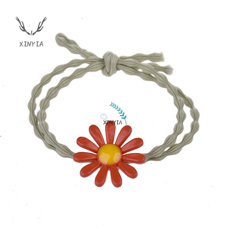 Dây Buộc Tóc Co Giãn Hình Hoa Cúc Cho Nữ