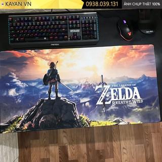[CHỐNG NƯỚC] [80x40x0.3] The Legend of Zelda Breath of the Wild - Tấm lót chuột, bàn di chuột, mouse pad game SIZE lớn thumbnail
