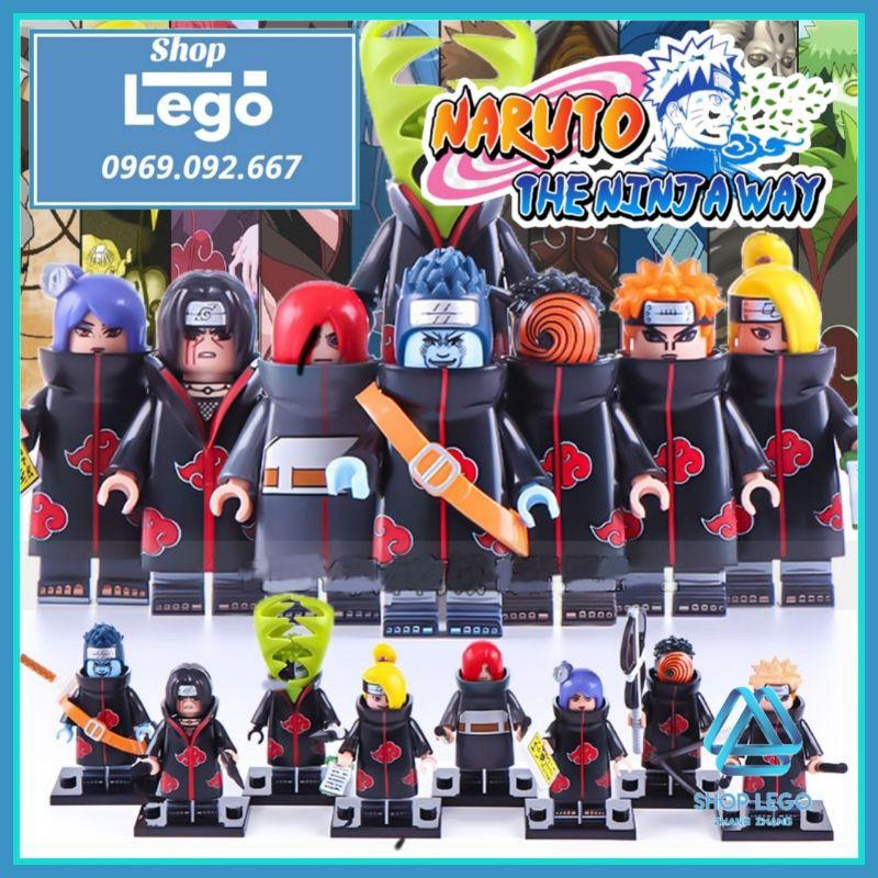 Xếp hình Yahiko Konan Nagato – Uchiha Itachi – Zetsu – Uchia Madara- Deidara – Hoshigaki Kisame Lego Minifigures WM6106