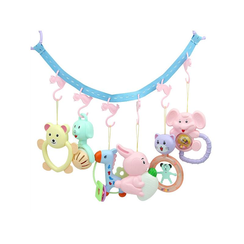 COD✌Cartoon animal music rotating bed bell baby rattle