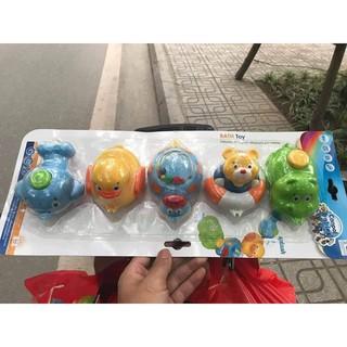 Bộ đồ chơi trong nhà tắm Canpol Babies 5 con siêu dễ thương cho bé