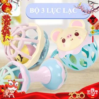 COMBO 3 Lục Lạc Phát Tiếng, Nhựa Cao Cấp Cho Bé