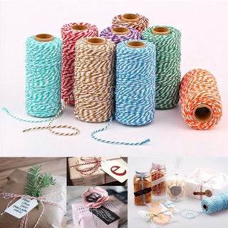 100Meters Cotton Bakers Twine String Cord Glass Bottle Gift Box Decor Craft