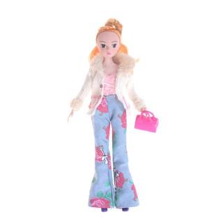 SIY❤ Doll Clothes Set Barbie Doll Coat Pants Vest Bags Shoes Winter Outfi