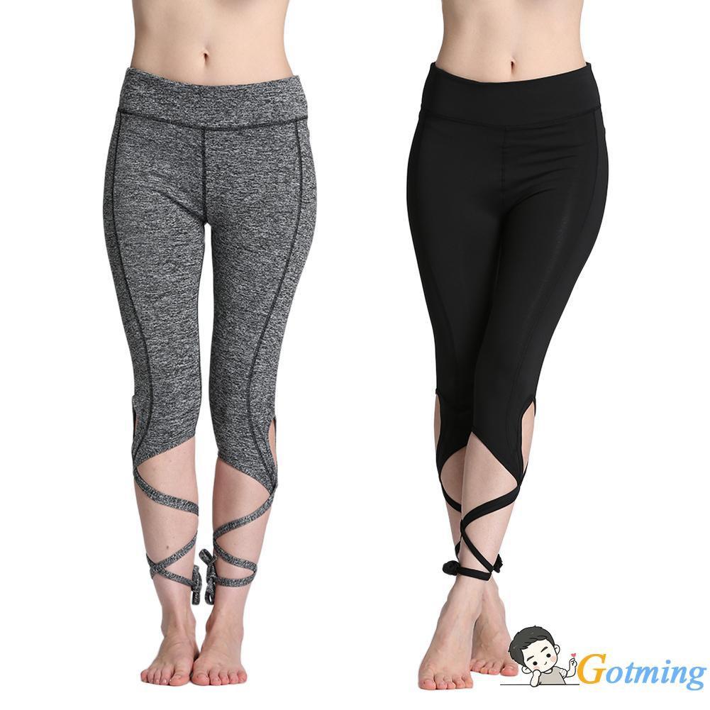 e1591966d7768 ✰Women Yoga Pants Ballet Bandage Fitness Running Tights Elastic Leggings