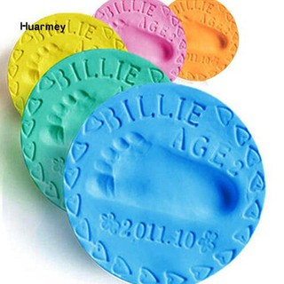 ★Hu 50g/Bag Children Clay Model 3D Mud Baby Handprint Footprint Record Growing