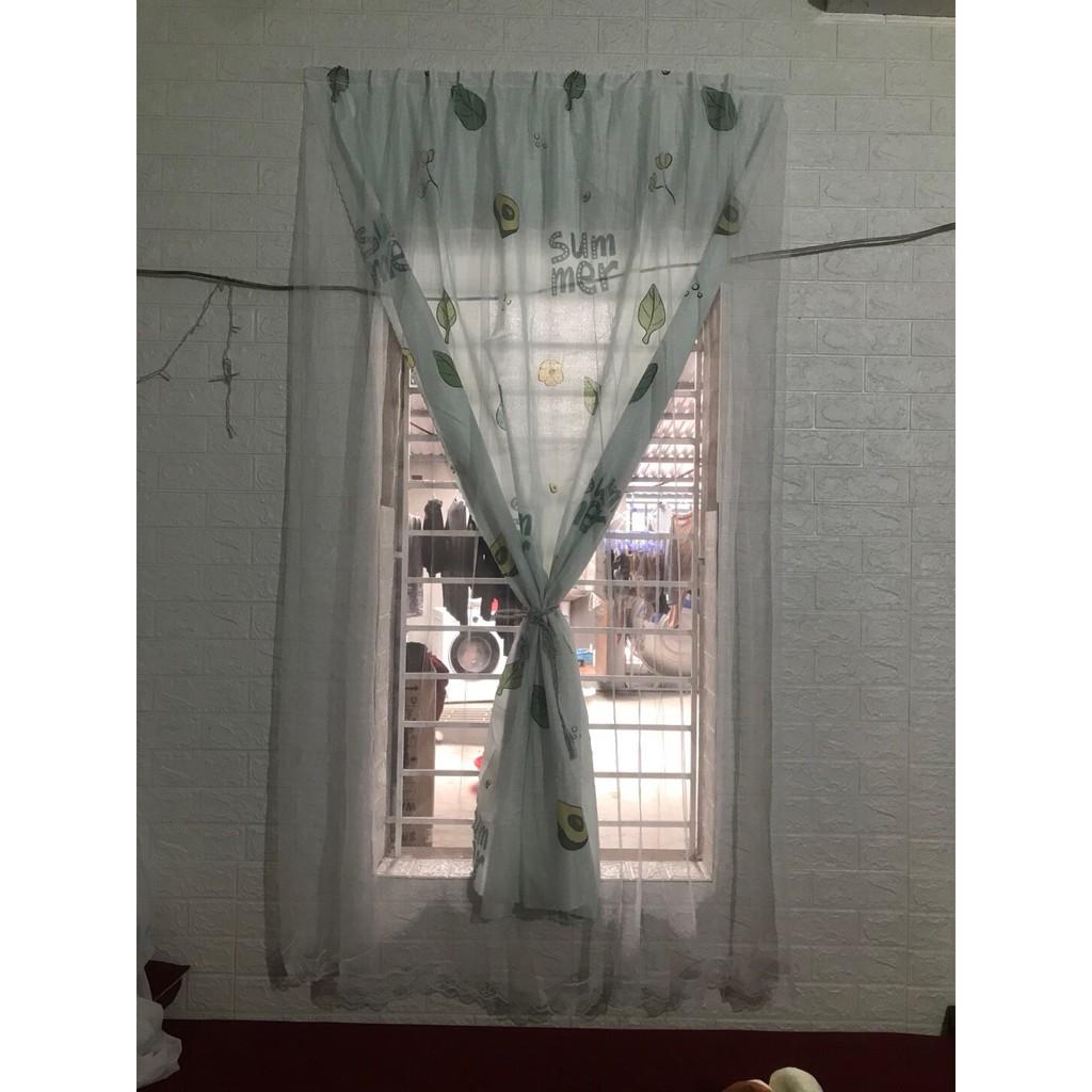 [SIÊU SALE 1 NGÀY] Rèm cửa sổ, rèm cửa dán tường 2 lớp, rèm cửa chống nắng dán tường